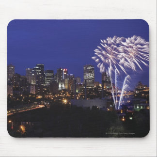 Fireworks Over The City Mouse Mat
