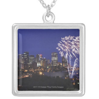 Fireworks Over The City Silver Plated Necklace