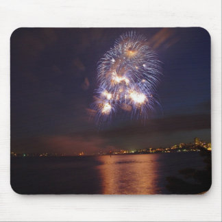 Fireworks over water mouse mat