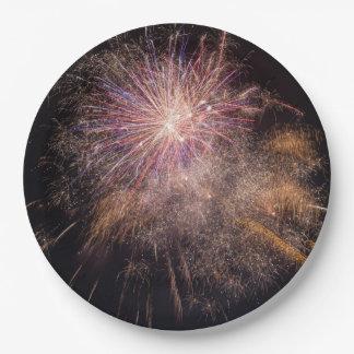 Fireworks paper plates