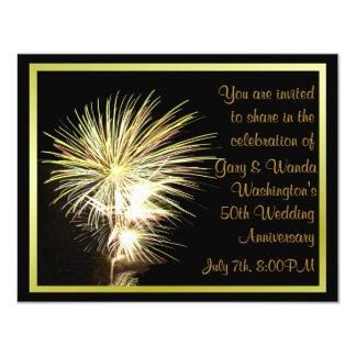 "Fireworks Party Invitation 4.25"" X 5.5"" Invitation Card"