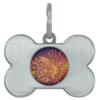 fireworks pet name tag