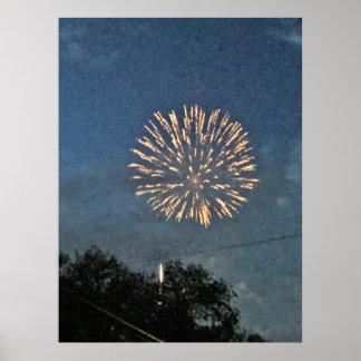 Fireworks Photo Poster