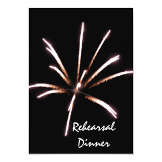 Fireworks Rehearsal Dinner Invitation