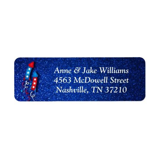 Fireworks Rocket 4th of July Address Labels