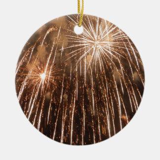 Fireworks Round Ceramic Decoration