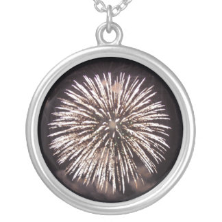 Fireworks Round Pendant Necklace