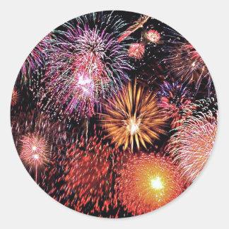 Fireworks! Round Sticker