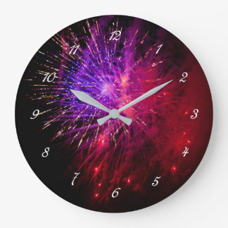 Fireworks Round Wall Clock
