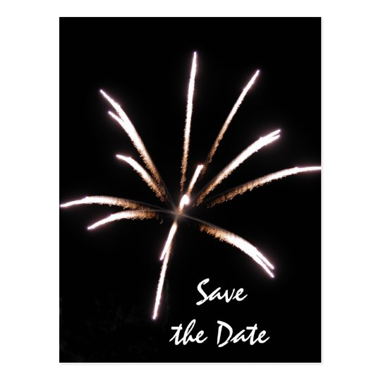 Fireworks Save the Date Announcement Postcard