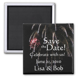 Fireworks Save the Date Magnet
