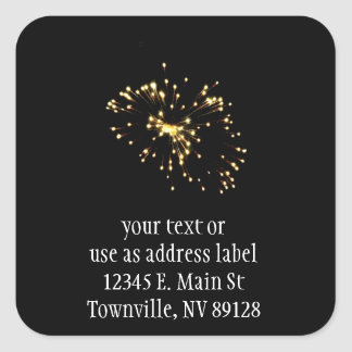 Fireworks Spray Square Sticker
