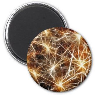 Fireworks Stars 6 Cm Round Magnet