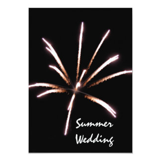 Fireworks Summer Wedding Announcement