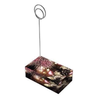 Fireworks table card holder