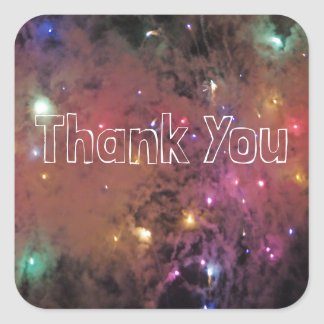 Fireworks Thank You Square Sticker
