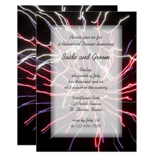 Fireworks Wedding Rehearsal Dinner Invitation