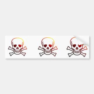 Firey Jolly Roger Bumper Sticker