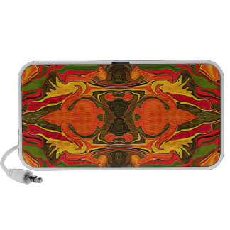 Firey red retro abstract notebook speakers