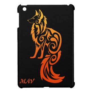 Firey Red Tribal Fox Kitsune iPad Mini Case