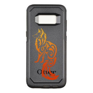Firey Red Tribal Fox Kitsune OtterBox Commuter Samsung Galaxy S8 Case