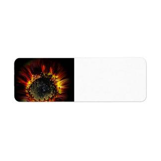Firey Sunflower Avery Label Return Address Label