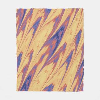 Firey Tie dye Fleece Blanket