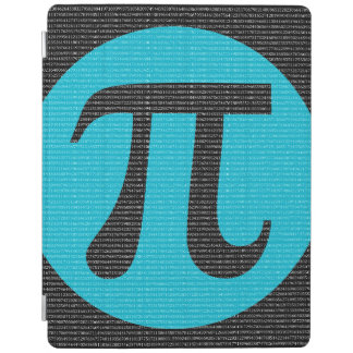 First 10,000 digits of Pi, blue on black iPad Cover