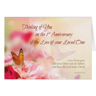 First, 1st Anniversary of Loss of Loved One, Death Card