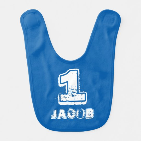 First 1st Birthday baby bib for one year