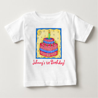 First (1st) Birthday Cake Tee Shirt