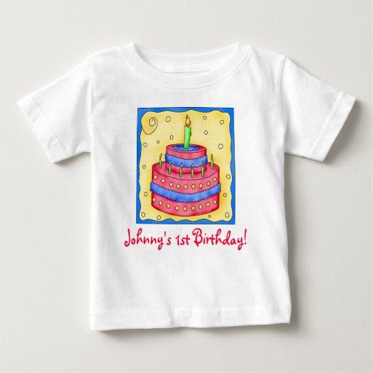 First (1st) Birthday Cake Tee Shirt