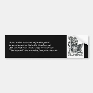 First 4 Lines of Sonnet # 11 by Shakespeare Bumper Sticker