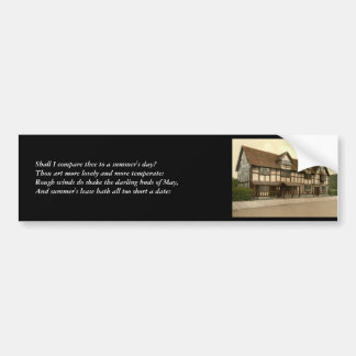 First 4 Lines of Sonnet # 18 by Shakespeare Bumper Sticker