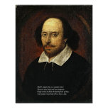 First 4 Lines of Sonnet # 18 by Shakespeare Posters