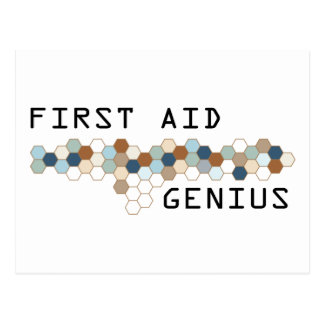 First Aid Genius Post Card