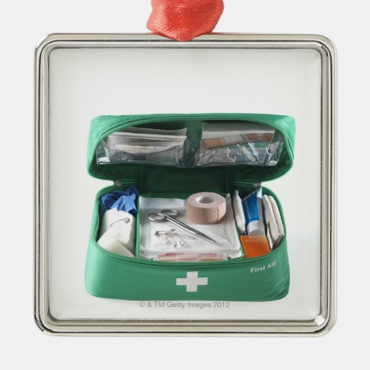 First aid kit. christmas ornament