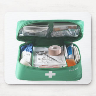First aid kit. mouse mat