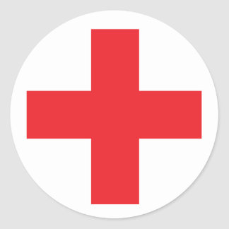 First Aid Kit Sign Classic Round Sticker