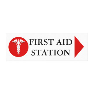 First aid medical emergency stretched canvas prints