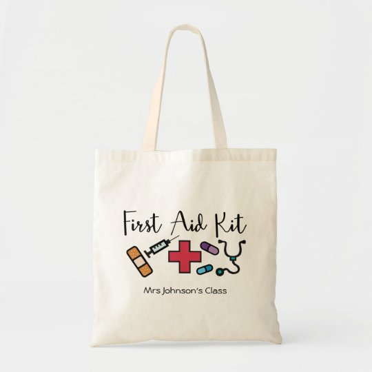First Aid Medicine Kit Personalised Teacher Tote Bag