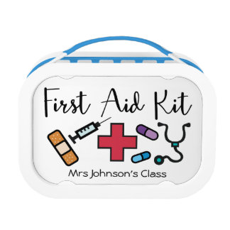 First Aid Medicine Kit Personalized Teacher Lunchbox