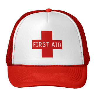 First Aid Red Medical Emergency Cross Cap