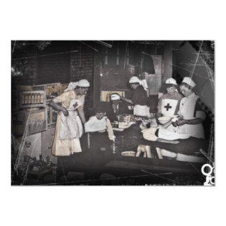 First Aid Station Nurses WWI 13 Cm X 18 Cm Invitation Card