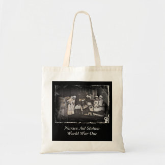 First Aid Station Nurses WWI Tote Bags