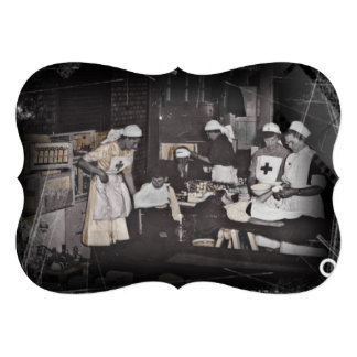 First Aid Station Nurses WWI Personalized Announcements