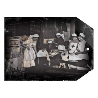 First Aid Station Nurses WWI Invitations