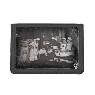 First Aid Station Nurses WWI Tri-fold Wallets