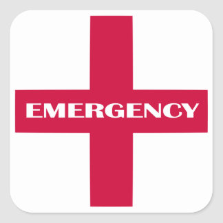 First Aid Supplies / Emergency Kit Square Sticker