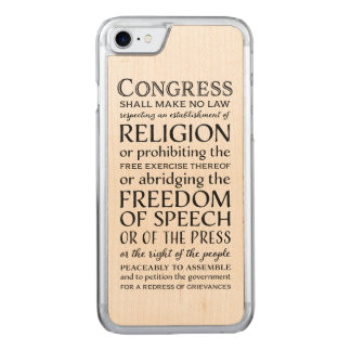 First Amendment Freedoms - Defend Your Rights Carved iPhone 7 Case